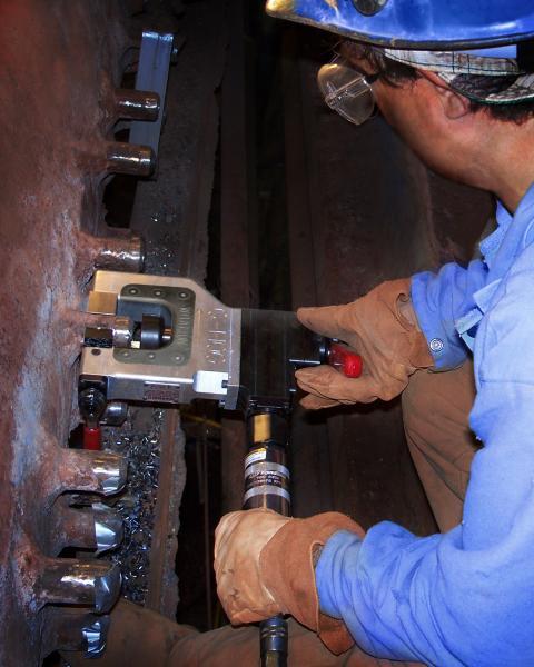 esco C-HOG MILLHOG O.D. CLAMP TUBE BEVELING MACHINE