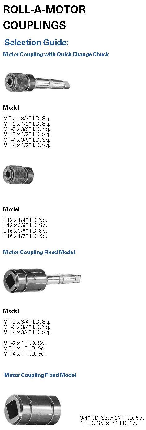 TECO Roll-A-Motors Accessories